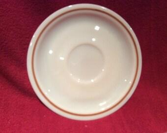 Pyrex Harvest Spray Tea Saucers 15cm diameter circa 1982