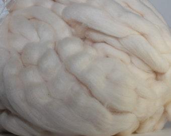 Pima Cotton sliver, natural white color