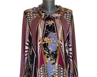 GEO women's blouse, size size 44-46, long sleeve, unique, handmade, elegant shirt
