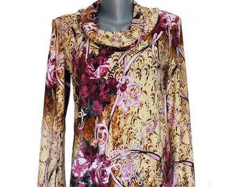 Elegant shirt, Womens blouse rose, size 36-38, handmade, womans sweater
