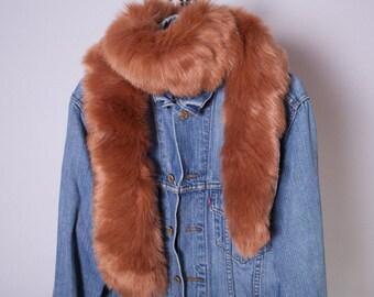 Faux Fur Scarf,  Long Fur Scarf ,Winter scarf,
