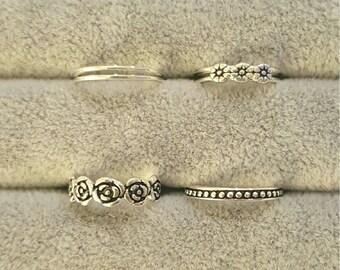 TOE RINGS, fine silver: 925 silver, hippie, Boho, freedom, serenity, gypsy, mermaid, summer, beach, freedom, yogi, body jewellery, sexy