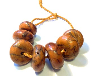 African amber phenolic resin beads