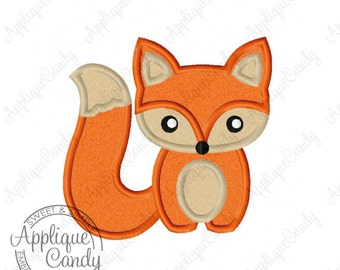 Fox Applique Machine Embroidery Design File What does the fox say 4x4 5x7 6x10 8x8 INSTANT DOWNLOAD