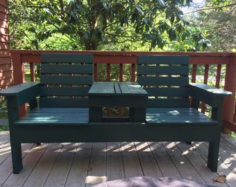 Adirondack Bench with Built-in Table