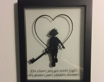 Gaming framed art - Kingdom Hearts - The closer you get to the light