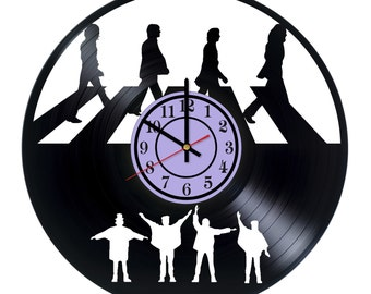 Beatles vinyl wall clock