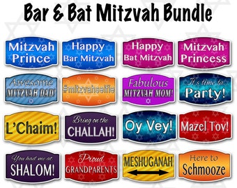 Bar/Bat Mitzvah Photo Booth Props