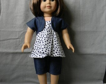 American Girl Doll Shrug, Flowing Tank and Capri