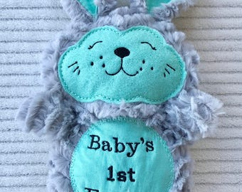 Stuffed Easter Bunny - Stuffed Easter Rabbit - Easter Basket Gift - Baby's First Easter - Boy Easter Gift - Stuffed Rabbit - Stuffed Bunny