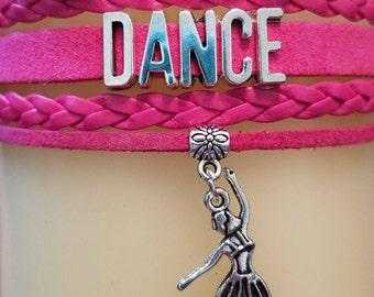 Dance Charm Bracelet - DANCE Ballerina - Dance Bracelet - Dancer Bracelet - PRICE REDUCED!
