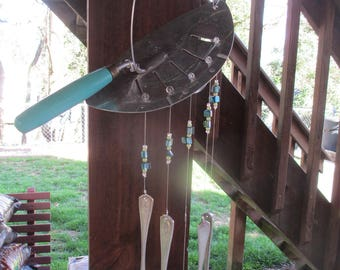Recycled Pot Strainer Silverware Wind Chime