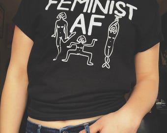 Feminist AF (MEDIUM) Black