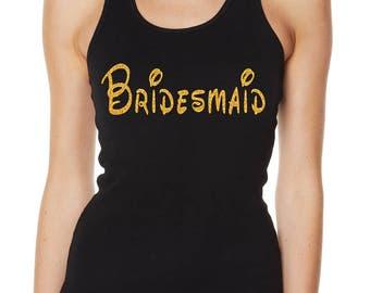 Hens Night Bachelorette Bridal Shower Glitter Iron On Transfer - Disney Inspired Bridesmaid