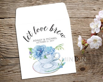 bridal shower favor tea party tea party favor tea bag favor tea