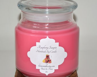 SALE Raspberry Sangria 16oz Large Soy Candle