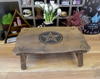 Altar table, Pentagramm, 4 elements