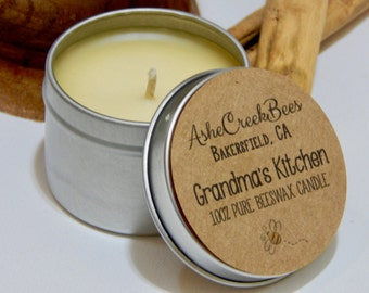 2oz Scented 100% Pure Filtered Beeswax Candle
