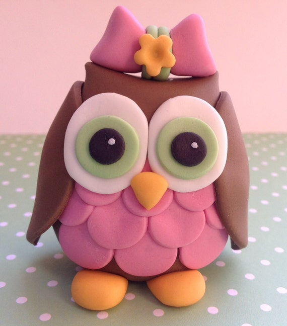 Edible 3d fondant owl topper birthday decorations cake for 3d printer cake decoration