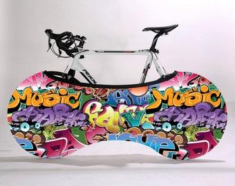 Bike cover, Bike packaging cover, Bike storage bag,Bike accessory, Wheelpants, Wheel pants, Graphitti print, gift for dad, bicycle gift item