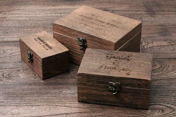 Mens Gift Gift for Him Husband Gift Box Custom Jewelry Box