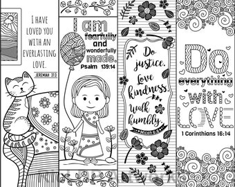 8 Printable Bible Verse Coloring Bookmarks Coloring Doodle