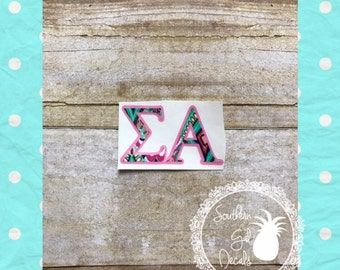 Sigma Alpha Lilly Inspired Vinyl Decal