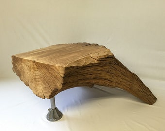 Tree stump coffee table.