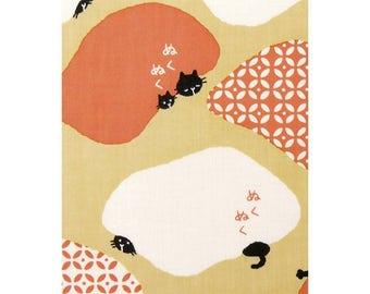 Hamamonyo Nassen Tenugui Towel The Cat Sat under the Kotatsu