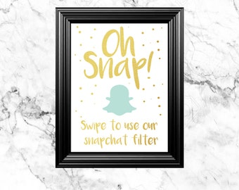 5x7 Oh Snap! Instant Download Sign