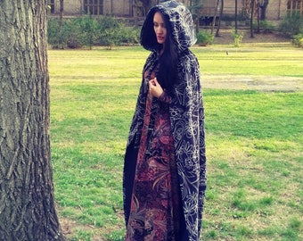 Hooded Cloack Coat With Hood Elven Cloack