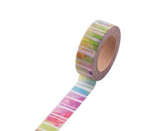 Colourful Abstract Effect Watercolour Pastels Rainbow Washi Tape