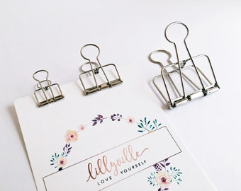 5x Clip for gift bags SILVER 5,0cm