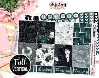Spellbound || Made For EC Vertical, Planner Stickers, Weekly Planner Sticker Kit, Magic and Spells Kit, No White Space Planner Kit