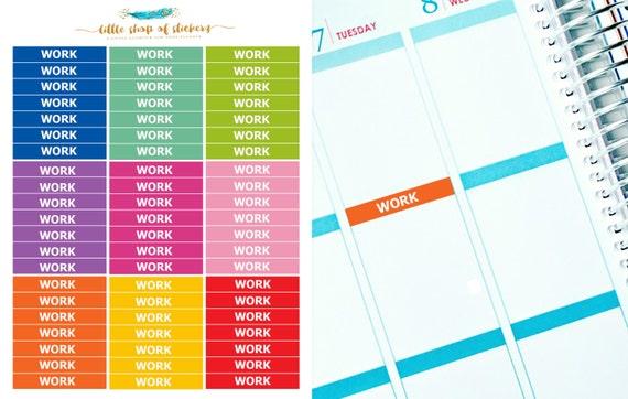 Work Headers || Functional Stickers, Work Header Stickers, Stickers For Planner, Planner Stickers, Work Stickers, Header Stickers
