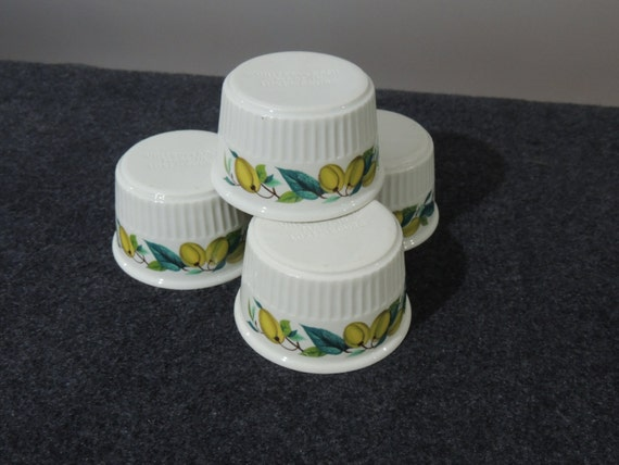 4 ramekins porcelain has fire villeroy Boch Luxembourg cuisine and tradition