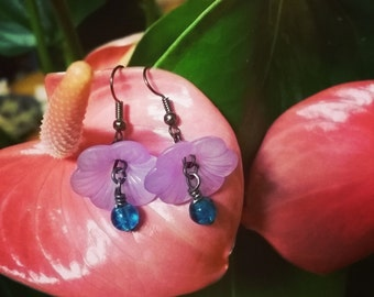 ON SALE! 50% OFF! Lillypad Fairy Earrings