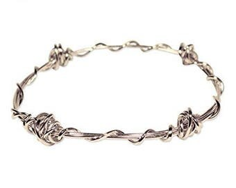 Barbed Wire Wrapped Bangle (set of two bracelets)