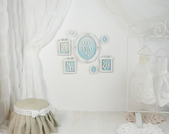A set of 7 pictures, 1/6 scale, blythe, pullip, barbie, wall paintings, wall decoration, doll house