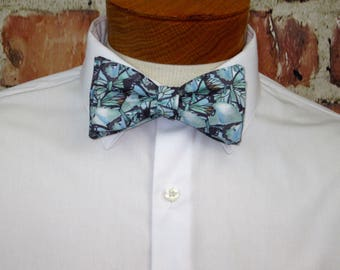 The Butterfly in Blue Bowtie - Bow Tie
