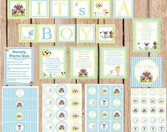 Nursery Rhyme Complete DIY Party Package