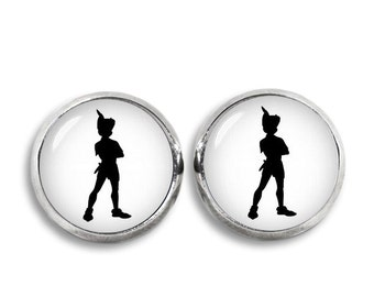 Peter Pan Stud Earrings Peter Pan Earrings Peter Pan Jewelry Cosplay Fangirl Fanboy