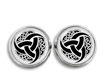 Triple Horn of Odin Stud Earrings Viking Norse Fandom Jewelry  Fangirl Fanboy