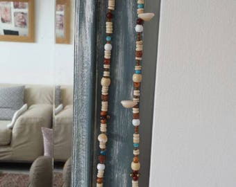 Handmade unique necklace. Shells and bells Bohemian hippie style