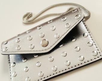 Studded Metallic Wristlet/Cardholder
