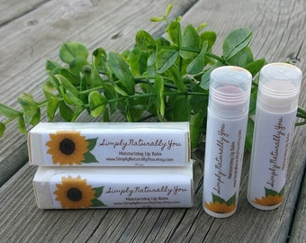 Moisturizing Natural Lip Balm With Yummy Cocoa Butter Vitamin E and Soothing Calendula Choose Your Flavor