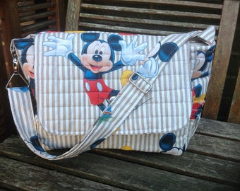 "Handmade baby changing/diaper/nappy bag "" Mickey Mouse "" new"