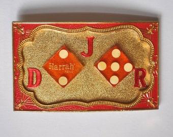 """Vintage Men's Belt Buckle """"Harrah's Reno"""" DJR"""