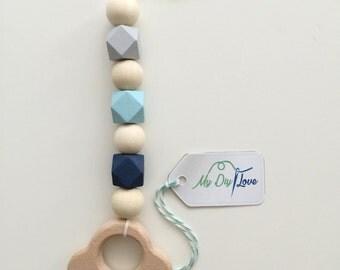 Maxicosikette baby shell pendant shades of blue pastel