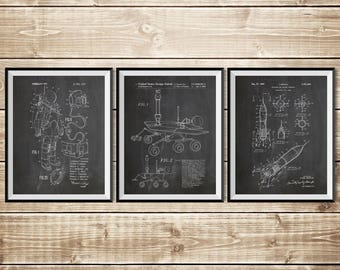 Outer Space Decor, Patent Print Group, Rocket Wall Decor, NASA Decor, Patent Print Set, Outer Space Nursery, Nasa Poster, INSTANT DOWNLOAD